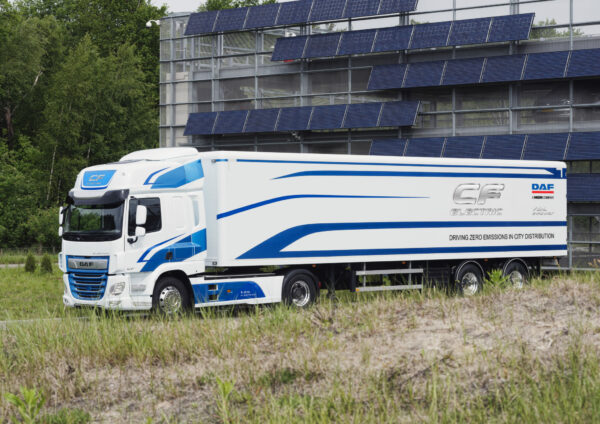 De splinternieuwe DAF CF Electric
