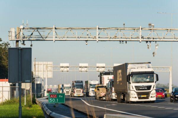 snelweg A12 bij afslag harmelen