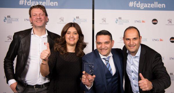 TMS-leverancier Erniesof FD Gazellen Award