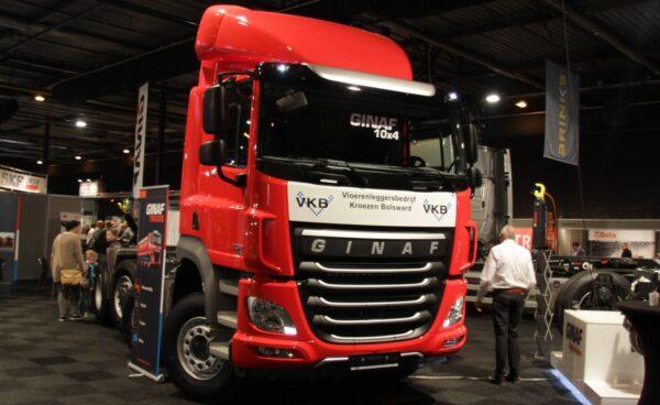 Ginaf biedt een breed programma: van multiasserbouwvoertuigen tot elektrisch aangedreven trucks voor distributievervoer.