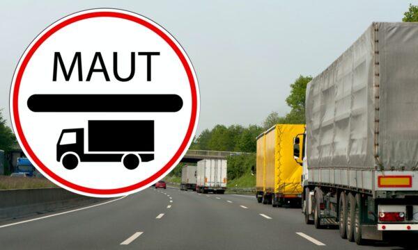 verkeersbord maut vrachtwagen autobahn