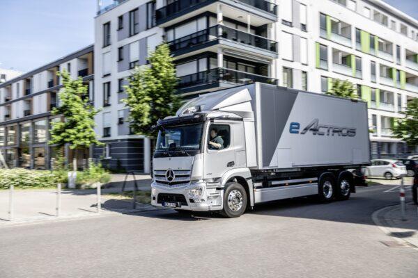 Mercedez-Benz lanceert eActros voor distributievervoer
