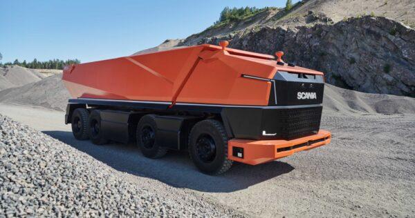 De Scania AXL is een volledig autonome concepttruck en heeft geen cabine.