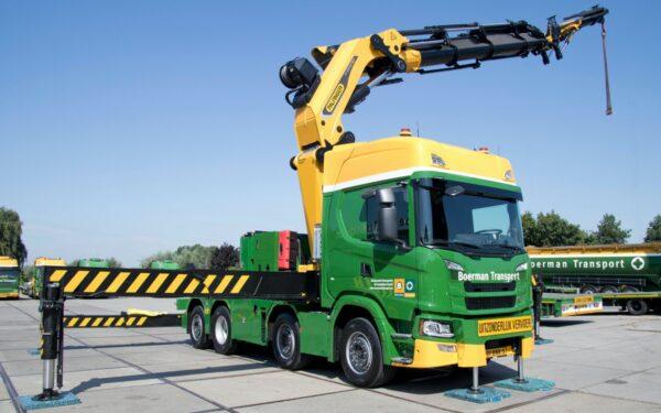 Scania Boerman Groep laadkraan