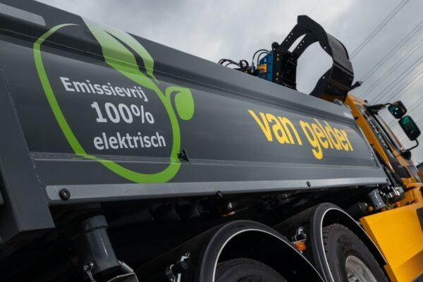 elektrische vrachtwagens voor aannemingsmaatschappij Van Gelder