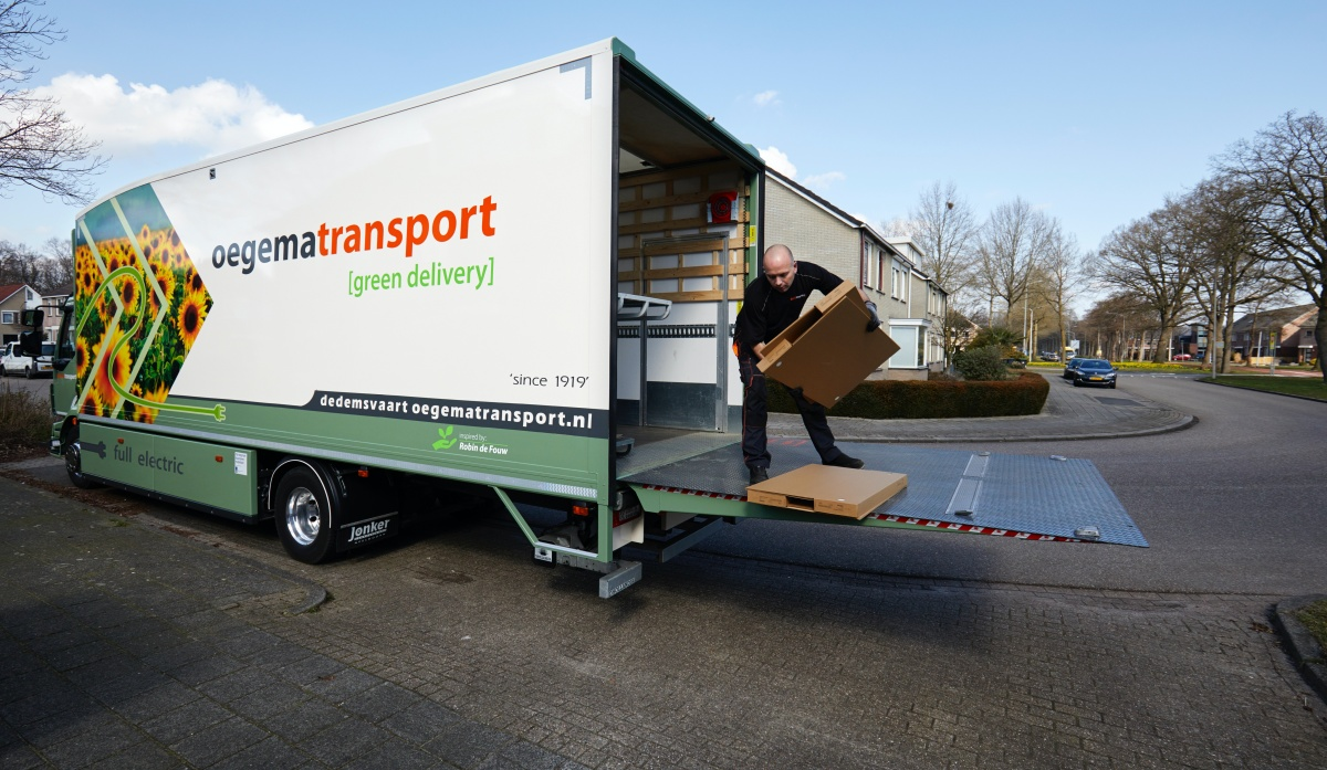 Oegema Transport elektrische vrachtwagen