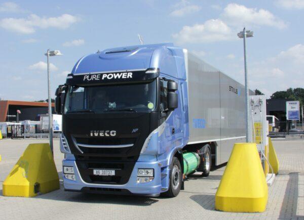 LNG Iveco Stralis als eerste op de testroute