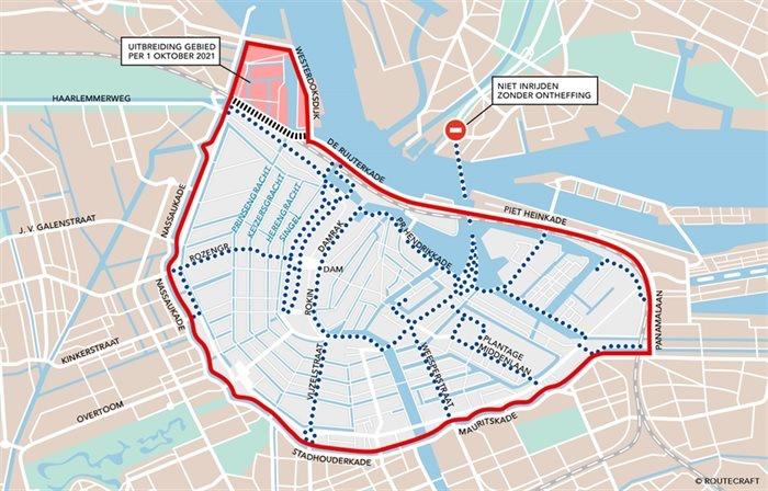 amsterdam weert zwaar verkeer uit centrum