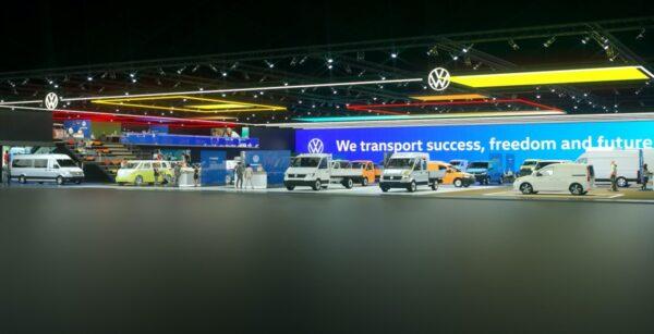 bedrijfswagens volkswagen op virtuele iaa