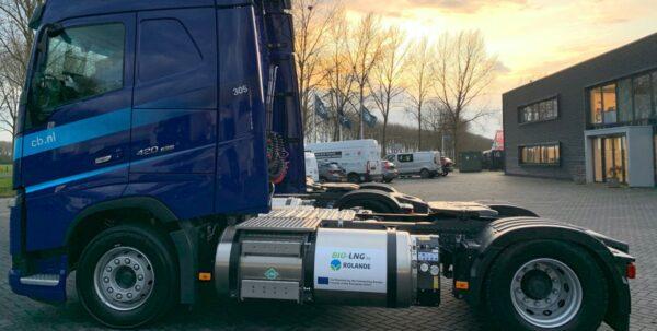 vrachtwagen bio-lng