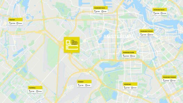 plattegrond metropoolregio amsterdam
