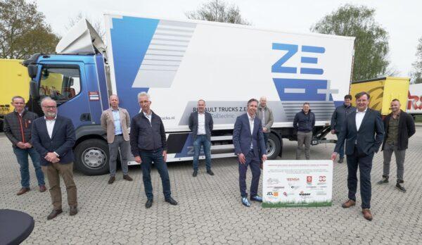 acht gelderse bedrijven testen elektrische vrachtwagen