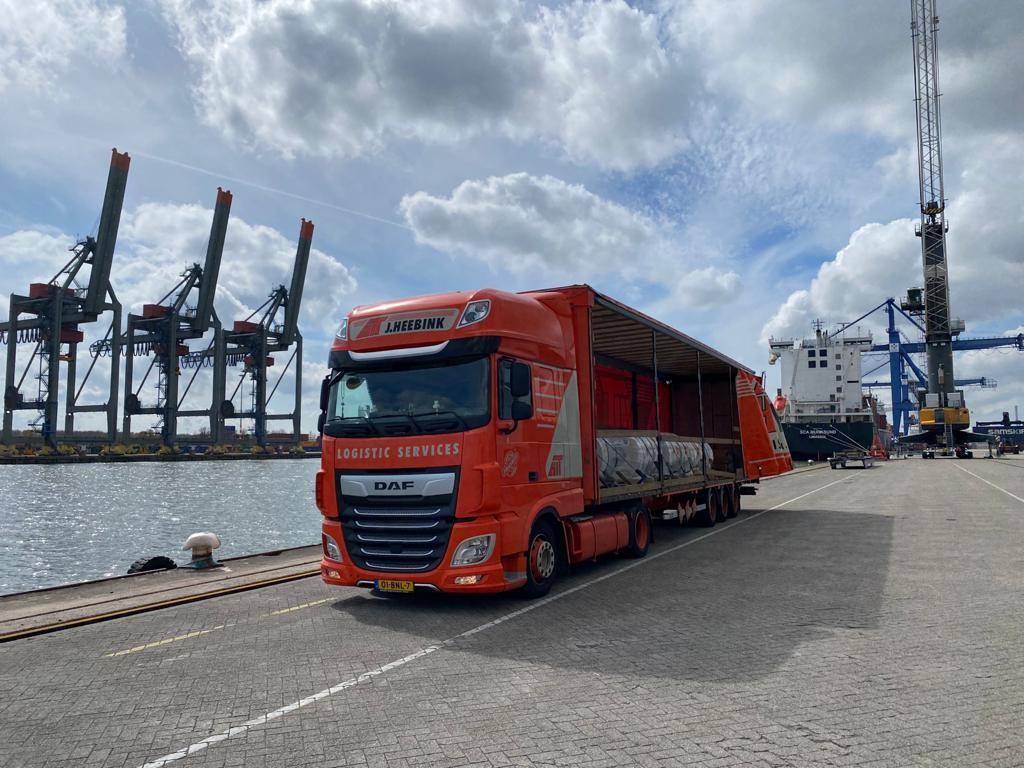 haven rotterdam vrachtwagen heebink