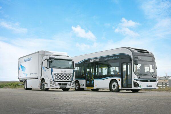 hyundai truck en bus op waterstof
