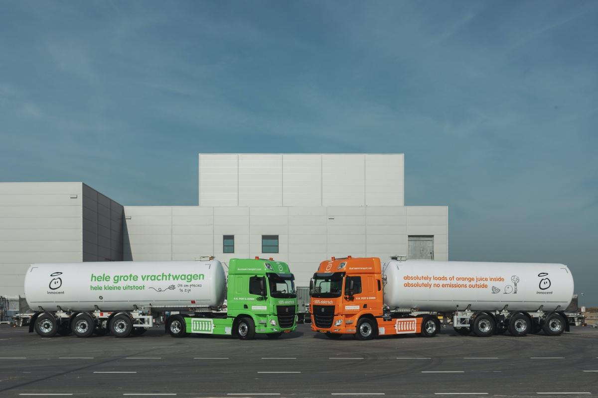 innocent zet elektrishce 50-tonsvrachtwagens in