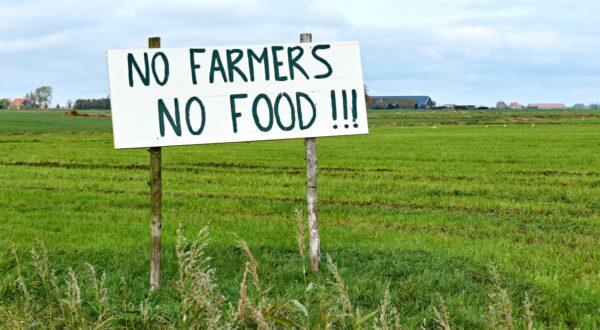 no farmers no food bord in weiland protestacties