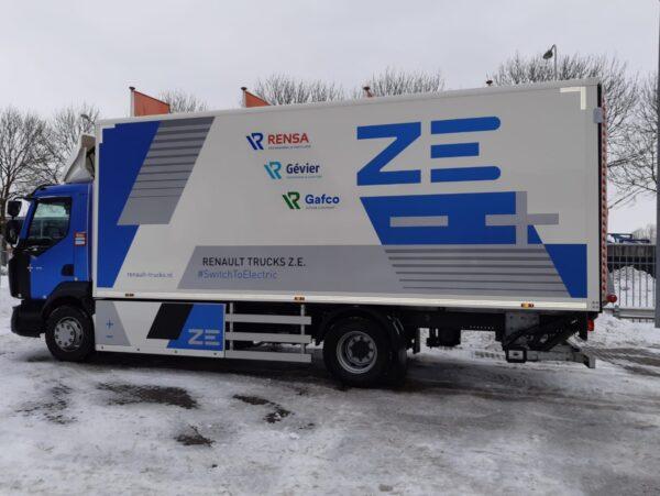 rensa family company pilot met elektrische vrachtwagen