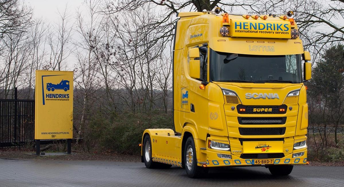gele truck scania