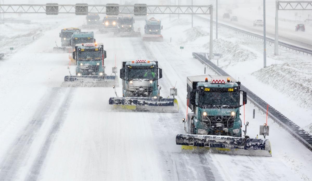 snelweg sneeuw