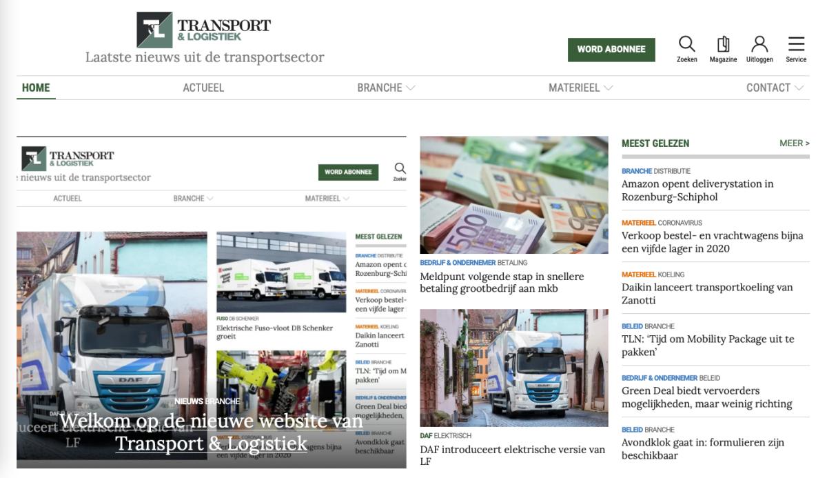 Transport & Logistiek website transportlogistiek.nl